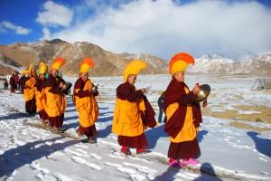 Nuns in ritual Ladakh